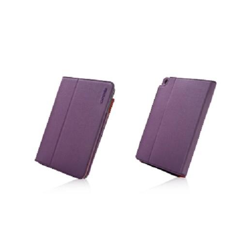 CAPDASE Folder Case Folio Canvas series for Apple iPad Mini [FCAPIPADM-1357] - Purple Orange - Casing Tablet / Case